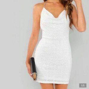 Woman's White Fancy Dress / for balls /